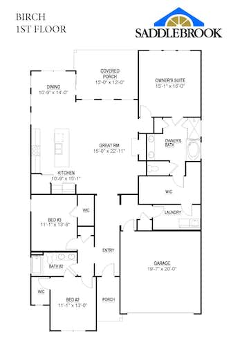 Birch - 2D FloorPlan 1