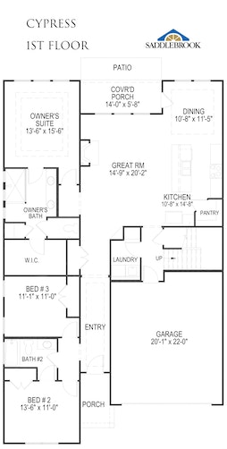 Cypress - 2D FloorPlan 1