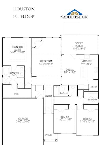 Houston - 2D FloorPlan 1