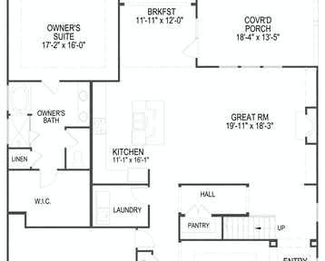 12637 Brass Lantern Way Floor Plan