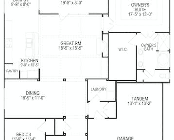 1253 Loggerhead Lane Floor Plan