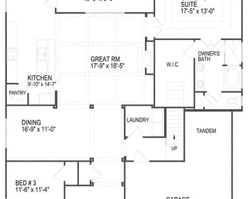 12633 Brass Lantern Lane Floor Plan