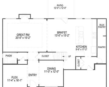 532 Vivian Leigh Lane Floor Plan